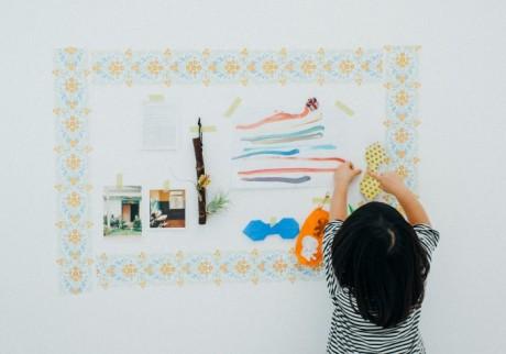 賃貸マンションでもできる。子どもの作品を壁にセンスよく飾る方法