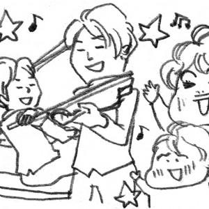 <span>カツヤマケイコの絵日記</span> 子連れのクリスマスコンサート。「めっちゃ楽しかった!」