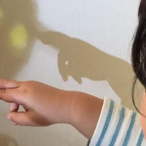 <span>編集部の取材エピソード</span> すぐにマスターできる! 親子で作る「どびんと湯のみ」の手影絵