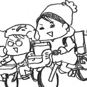 <span>カツヤマケイコの絵日記</span> 娘にナイショで息子とふたり。抜けがけして向かう先は?