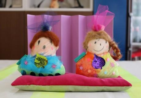 今年のひな祭りは、子どもと作ったおひなさまでお祝いを