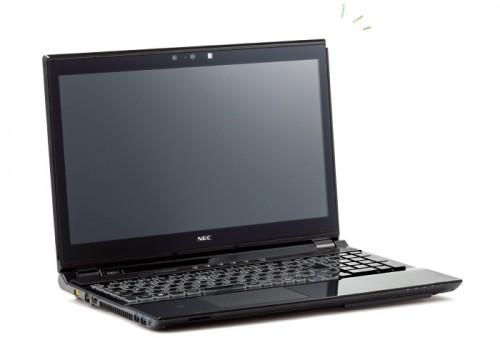 15.6型ワイド液晶 UltraHD 4K クリスタルブラック 約2.7㎏(バッテリー含む) オープン価格 問NEC 121コンタクトセンター 0120-977-121