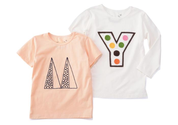 ボクのはどんなの? イニシャルごとにデザインが違う、キュートなTシャツ