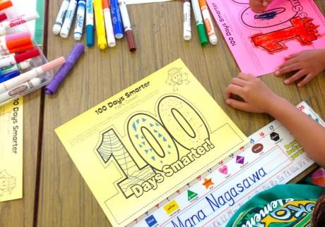 ハワイの小学校、100日目のアロハなお祝い!