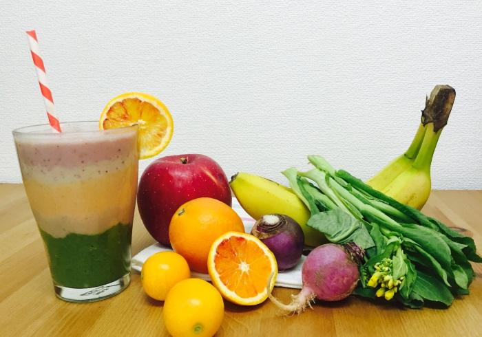 春野菜とフルーツで作る、カラフルスムージー