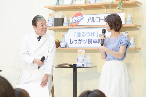 李憲俊先生と福田萌さんが登壇。除菌についてのお話を伺います。