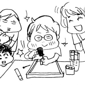 <span>カツヤマケイコの絵日記</span> 夏休み、宿題の自由研究は、こんな「男子作品」になりました