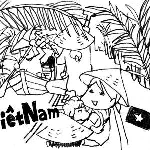 <span>カツヤマケイコの絵日記</span> ダチョウに乗ったり、ヘビを首に巻いたり。テンションが上がる、ベトナムの旅