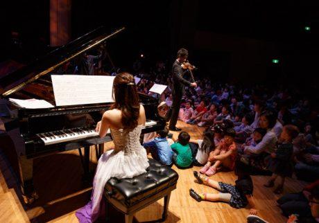 演奏者の足元で聴ける音楽会。プレミアムコンサート