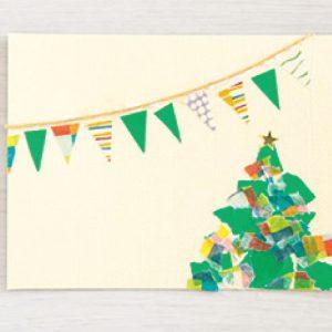 <span>3・4・5 歳向け</span> ハサミもノリも不要。マステで作るクリスマスカード