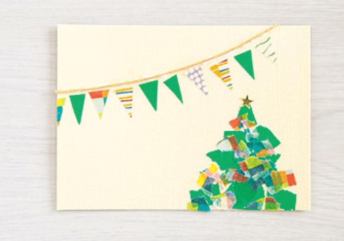 ハサミもノリも不要。マステで作るクリスマスカード