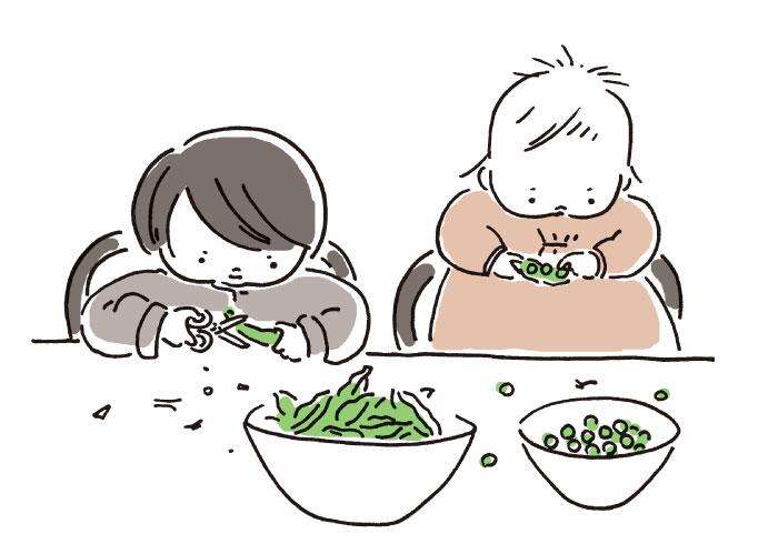 偶然にも可愛い緑の豆になる。姉妹の名前のひみつ