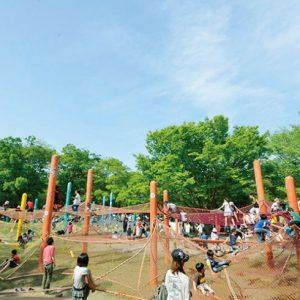 <span>パパと行くから楽しい公園・2</span> パパと出かけよう! 大型遊具&アスレチックのある公園【東京都】