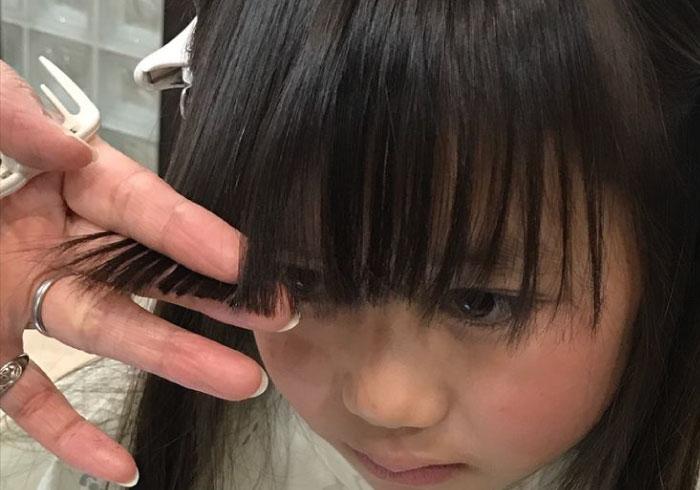 卒園式や入学式前に自宅でできる。失敗しない子どもの前髪カット