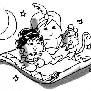 <span>カツヤマケイコの絵日記</span> 劇団四季の『アラジン』に行ってきました!