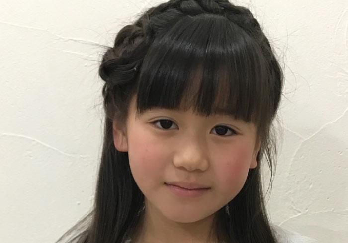 入学式、入園式に。写真で解説する、基本の編み込みヘアとカチューシャ風アレンジ