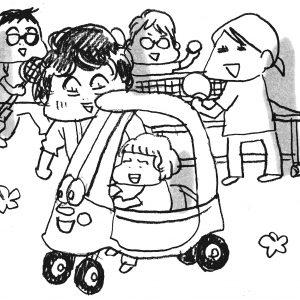 穴場がいっぱい! 子連れで赤坂散策【カツヤマケイコの絵日記】