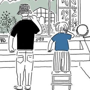 <span>山本祐布子の「子どものいる風景」</span> その湾曲した腕のラインまで、ふたりはそっくり