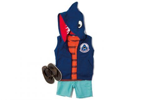 かぶりモノ感覚で着せたい。GAPのサメのパーカーベスト