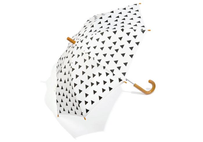 雨の日のコーデがキマる。三角柄のキッズ傘