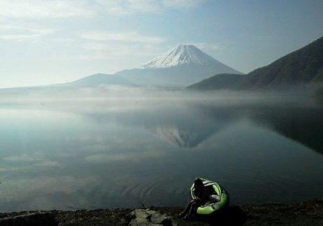 逆さ富士もくっきり。ちょっと上級、おすすめのキャンプ場