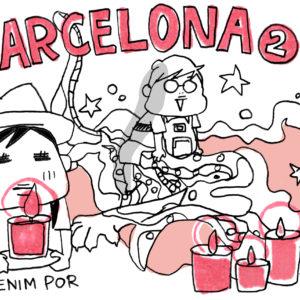 蚤の市にガウディ建築。息子とふたり、バルセロナの旅・その2【カツヤマケイコの絵日記】