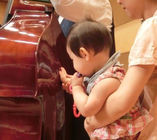おもちゃの楽器遊びやヴァイオリン体験など。0歳から楽しめる音楽会