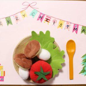 <span>カンタン! お家で手作り</span> 子どもと一緒に! マステで作るクリスマス・ランチョンマット