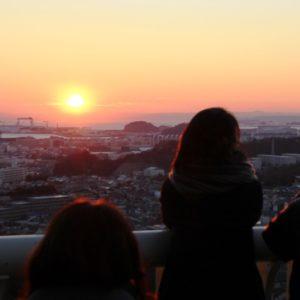 <span>おでかけニュース【神奈川】</span> 丘の上の動物園から臨む、2018年の絶景「初日の出」