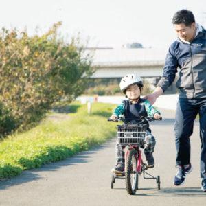 <span>Hanakoパパ</span> 自転車の練習も毎日の勉強も。しっかり付き合うパパの1日を公開!
