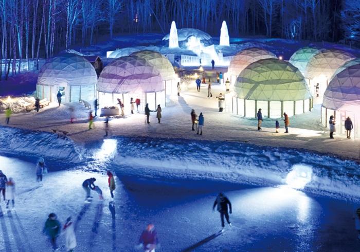 スキーのあとは星野リゾートの施設も利用できる、冬リゾートの決定版!
