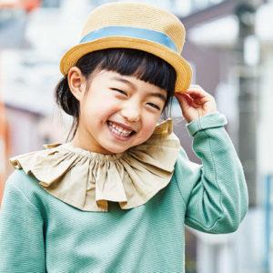 <span>春ファッション特集・4</span> シンプルなカットソーに付け襟プラスで、キュートなお出かけ服に!