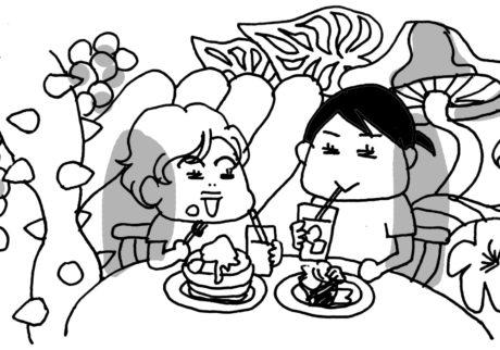 「カワイイモンスターカフェ」も満喫! 長女とヒミツのおでかけ【カツヤマケイコの絵日記】
