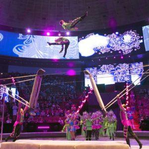 <span>おでかけニュース【千葉】</span> 空中ブランコや動物たちの動きに息をのむ。「2018国立ボリショイサーカス幕張公演」