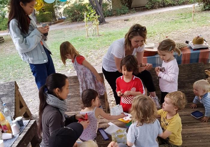 公園でお祝いするのが楽しい、ドイツの誕生日会