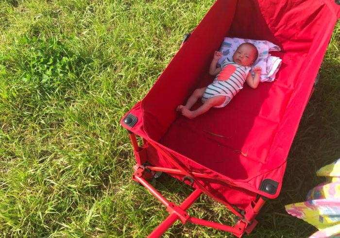 末っ子は生後1か月でデビュー。 無縁だったキャンプにがっつりハマった理由