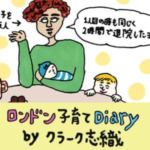 <span>ロンドン子育てDiary</span> 自宅出産になった時のために、夫が赤子を取り出す練習を!?