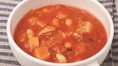 1品で大満足!「さば水煮缶とじゃがいものトマトスープ」レシピ【サバ缶レ …