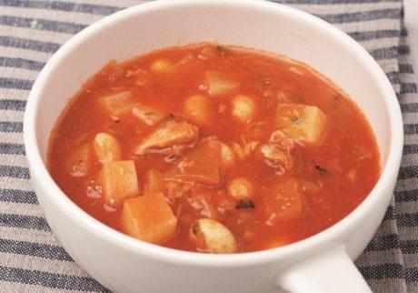 1品で大満足!「さば水煮缶とじゃがいものトマトスープ」レシピ【サバ缶レシピ】