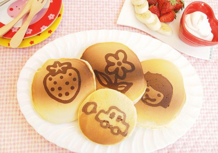 親子でクッキング 描いて楽しい、食べて美味しい、「お絵かきパンケーキ」の作り方