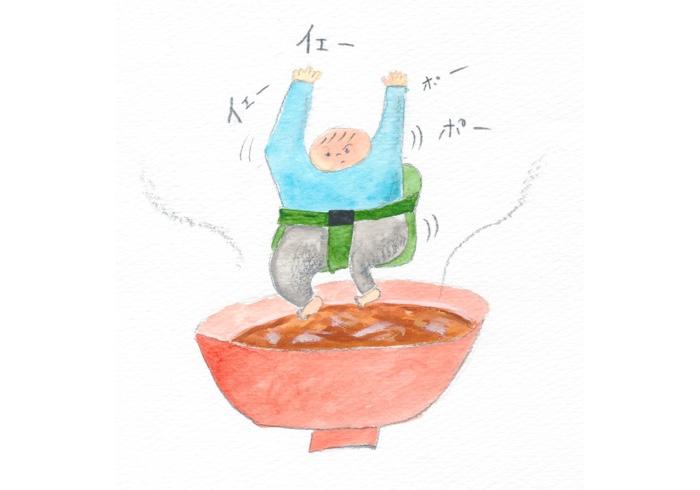 お料理することや食べることってやっぱおもろいなぁ。お汁だいすきおちょぼちゃん