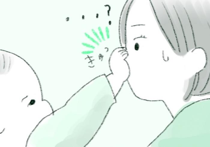 ママのお鼻をさわって寝ると安心!?添い寝中の幸せ
