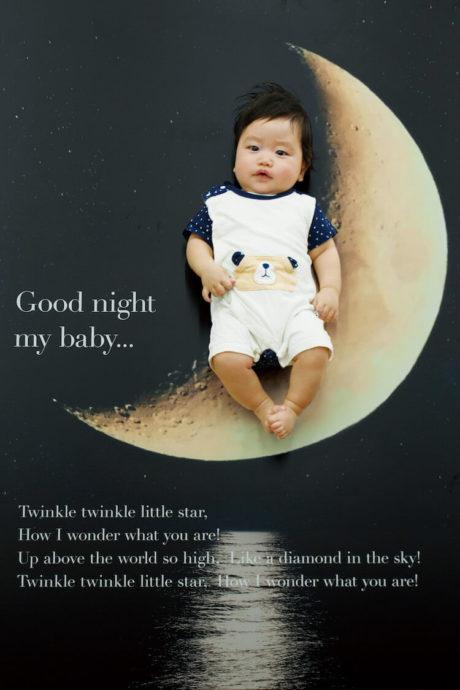 おねんねブース-夜空の月