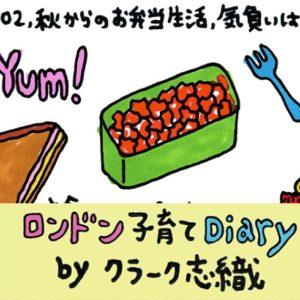 <span>ロンドン子育てDiary</span> 日本のお弁当のような手の込み具合がみられず一安心!新しいナーサリーでのランチ