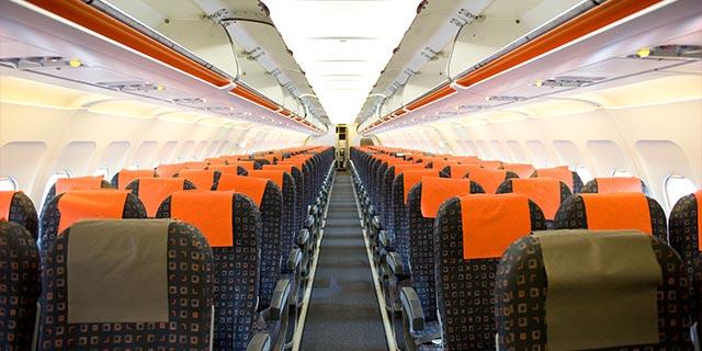 飛行機内写真