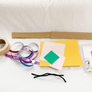 親と子で素材を使って「#おうち時間」を楽しもう!~ダンボールで作る時計作り~