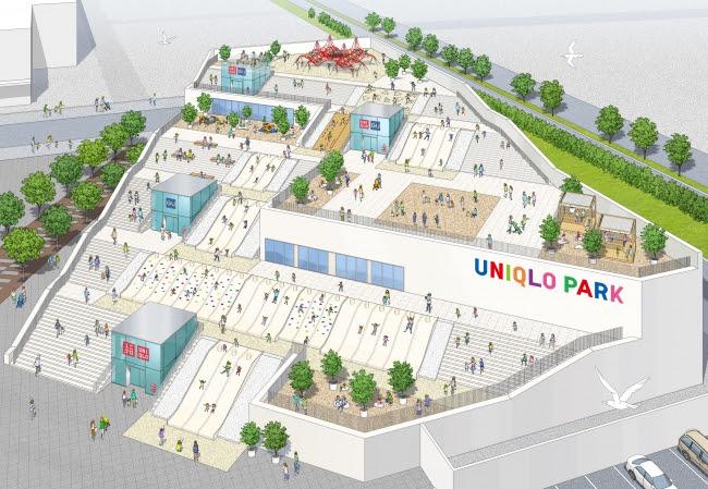 UNIQLO PARK 横浜ベイサイド店 外観のイメージ図