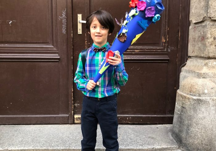 息子が一年生に。ドイツ流入学式とは